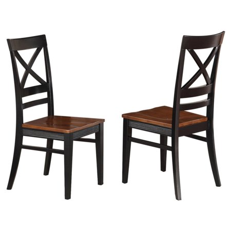Magnificent East West Furniture Quincy X Back Dining Chair With Wooden Seat Set Of 2 Gmtry Best Dining Table And Chair Ideas Images Gmtryco