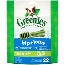 Dog Treats: Greenies Hip + Joint Teenie