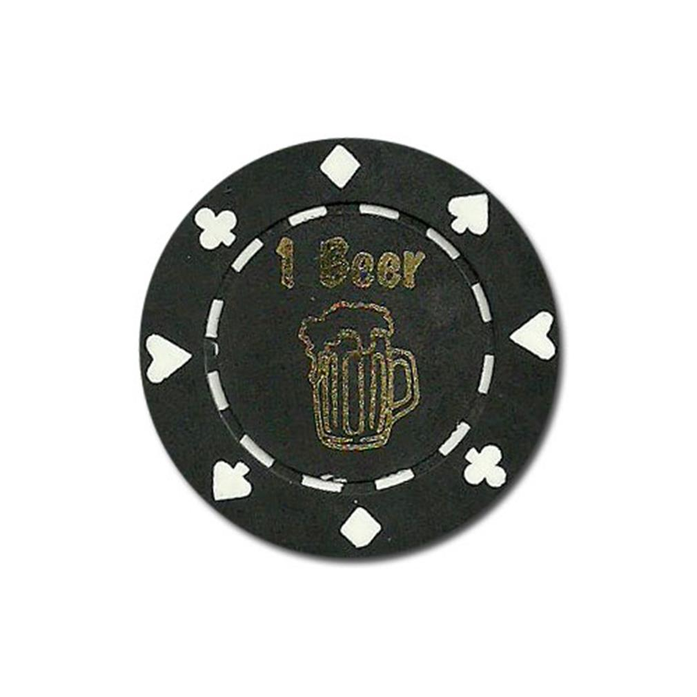 """25 Black """"1 Beer"""" Bar Token Chips by BryBelly"""