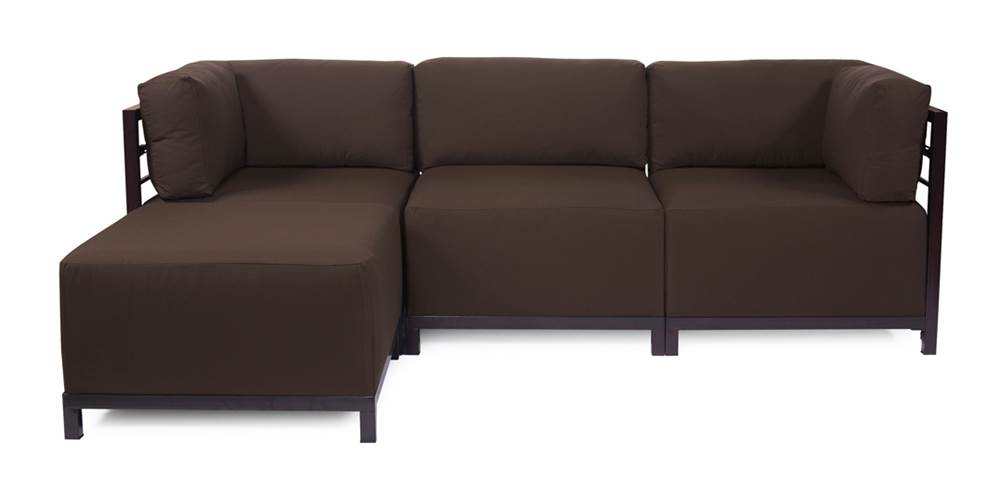 4-Pc Sectional in Chocolate by Howard Elliott Collection