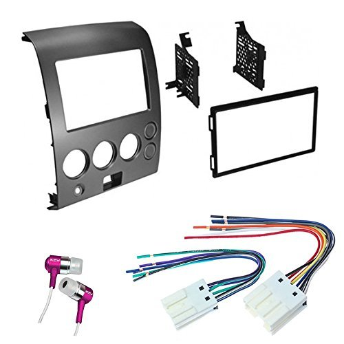 CAR CD STEREO RECEIVER DASH INSTALL MOUNTING KIT WIRE HARNESS NISSAN TITAN ARMADA 2004 - 2007