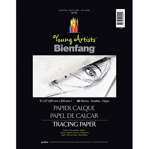 Young Artists Bienfang Tracing Paper 9 Inch X 12 Inch 40 Sheets-24