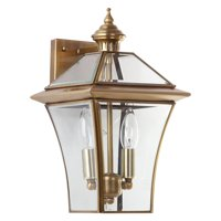 Safavieh Virginia 14.5 in. H Double Light Rustic Sconce, Brass