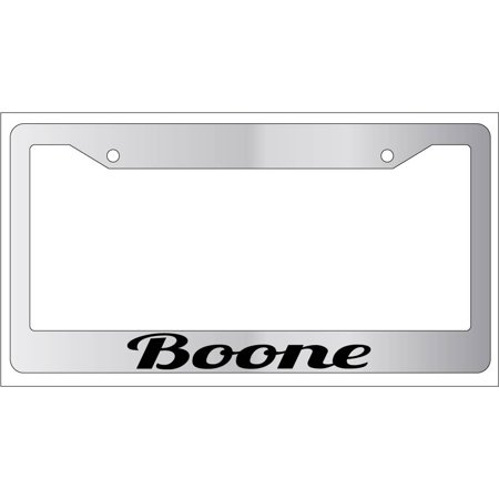 Boone Chrome Plastic License Plate Frame City State Boone Plastic Frame Fabric