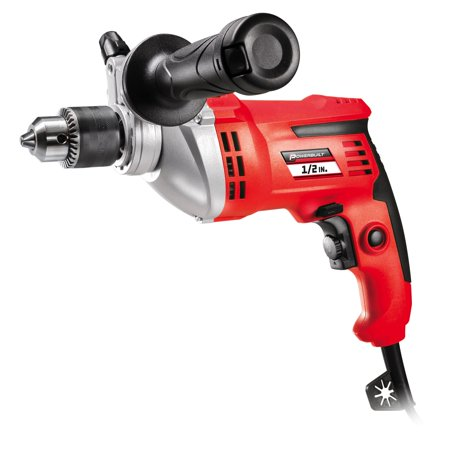 - Powerbuilt 7 Amp 1/2-in Variable Speed Hammer Drill with Storage Case - 240069
