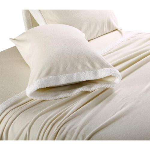 Ultra Soft Micro Fleece Sheets with Sherpa Trim Queen - Wedgewood