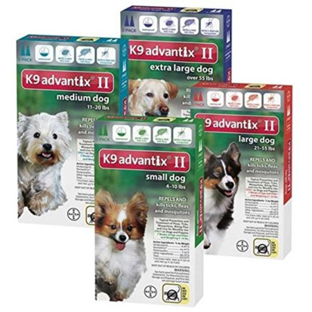 K9 Advantix II, Flea And Tick Control Treatment for Dogs, 21 to 55 Pound, 2-Month Supply, Kills ALL flea life stages, including eggs By