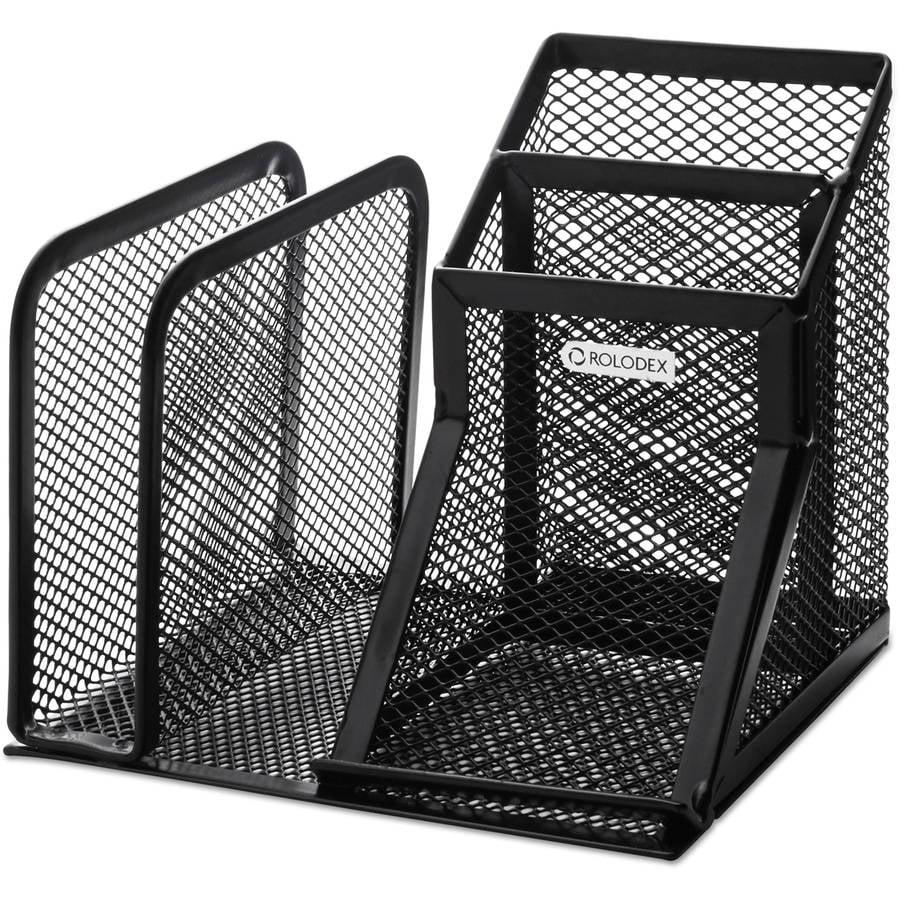Rolodex Mesh Corner Desktop Shelf Five Sections 20 X 14 13 Black Rol62630 Com