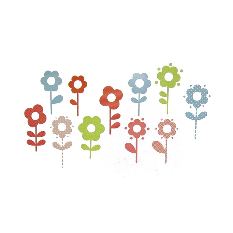 Brewster Home Fashions Fabric Daisies - Flower Wall Stickers and Decals
