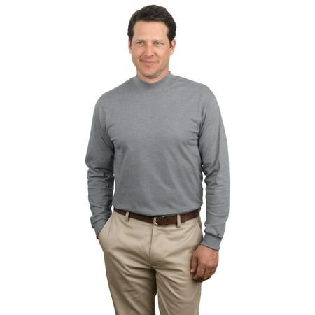 Port & Company - Essential Mock Turtleneck (Cotton Long Sleeve Mock Turtleneck)