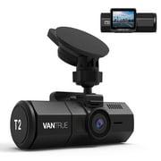 Vantrue T2 Surveillance Super Capacitor Dash Cam 1080P, Night Vision, OBD Hardwiring