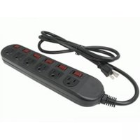 2-Pack Rosewill RPS-210BL 6-Outlet 125V Cord Power Strip (Black)