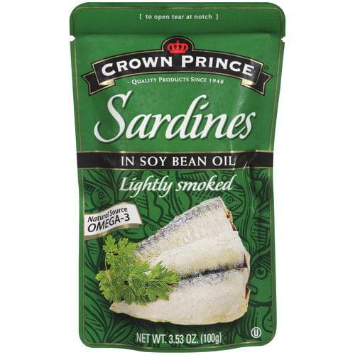 Crown Prince Sardines in Soy Bean Oil, 3.53 oz