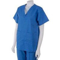 17820742512 Product Image Medline Hospital Quality Women's Two-pocket Scrub Top Sapphire