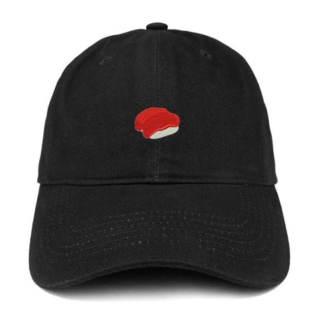 cbebef2ed36 Trendy Apparel Shop Sushi Emoticon Quality Embroidered Low Profile Brushed  Cotton Dad Hat Cap - Black - Walmart.com