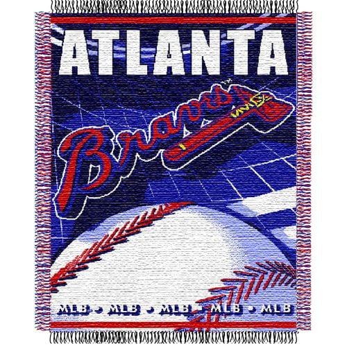 Northwest Co. DO NOT SET LIVE! MLB Atlanta Braves Woven Jacquard Throw