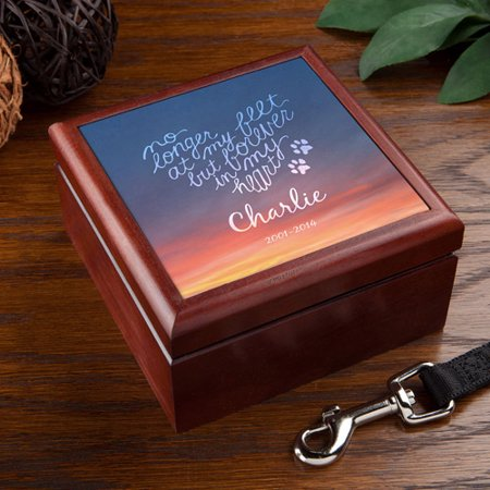 "Personalized Forever"" My Heart Pet Keepsake Box"
