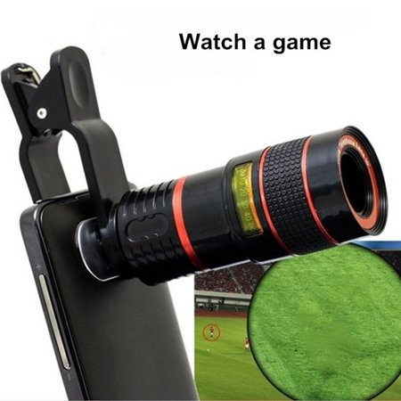 8X18 High Power Mobile Monocular Smartphone Shockproof Telescope for Bird Watching Hunting Camping - image 4 of 9