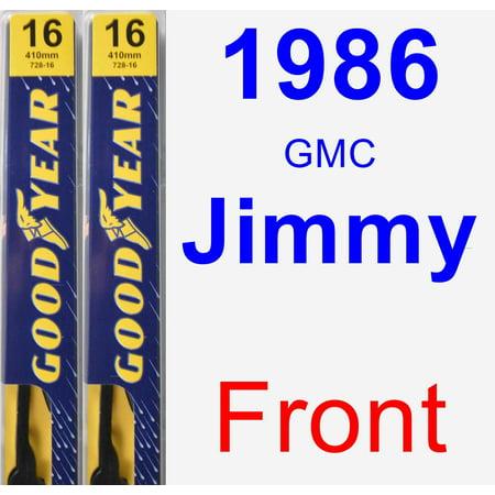 1986 GMC Jimmy Wiper Blade Set/Kit (Front) (2 Blades) - Premium - Blades Of Glory Jimmy