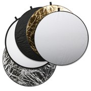 Square Perfect Professional Quality 43 Inch 5-in-1 Light Multi Collapsible Photo Disc Reflector