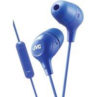 JVC HAFX38MA Marshmallow Inner-Ear Headphones with Microphone (Blue)