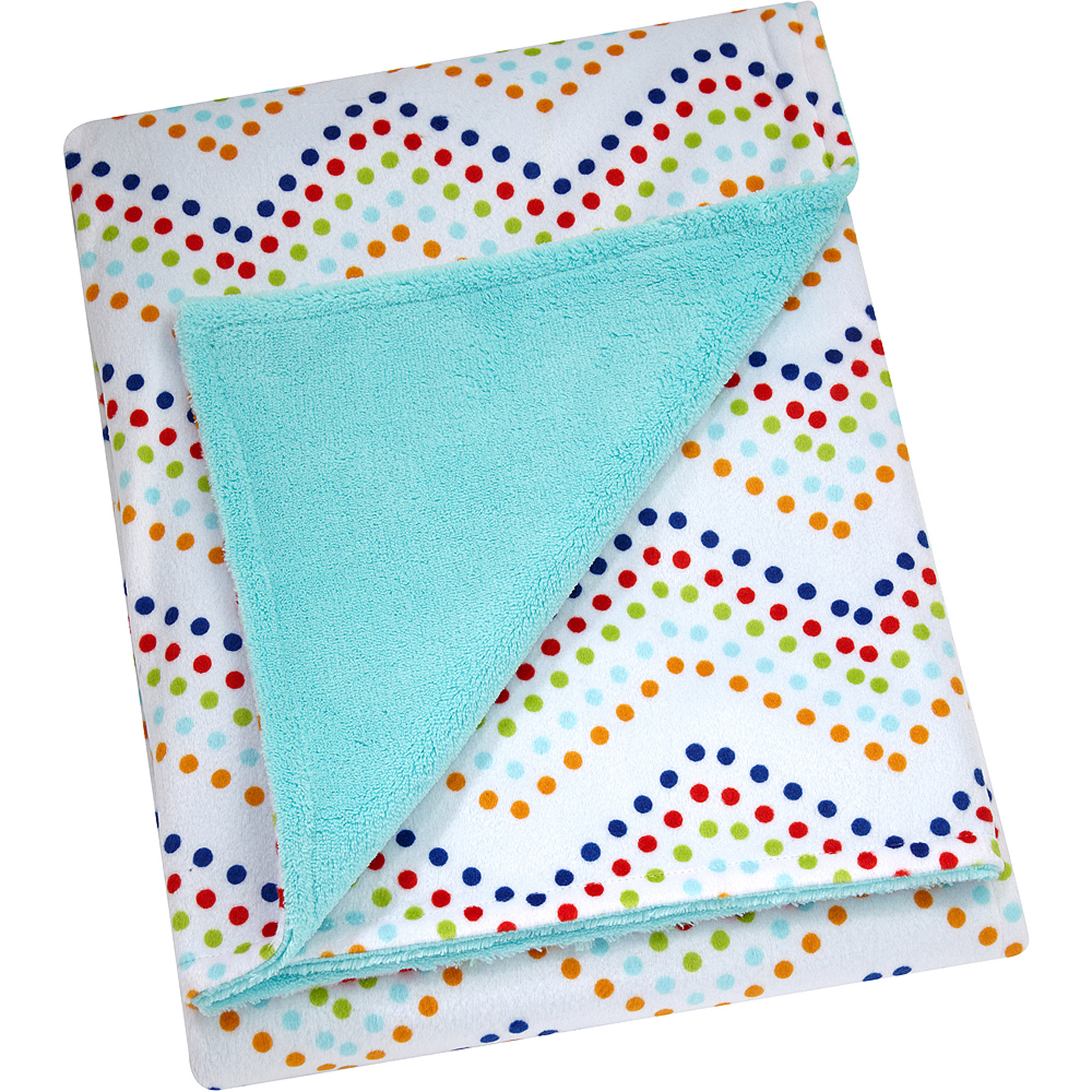 Little Bedding by Nojo Printed Velboa Blanket, Chevron Dot, Unisex