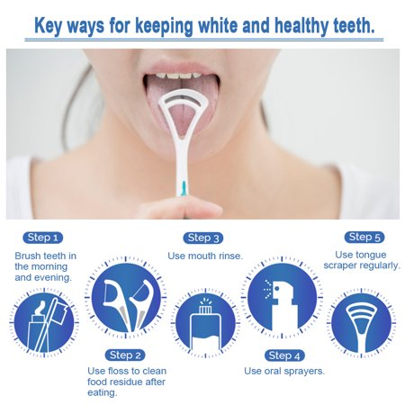 2 pcs langue grattoir langue orale nettoyeur langue de la bouche brosse de nettoyage frais souffle fabricant d'hygiène bucco-dentaire brosse - image 2 de 7