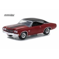 1970 Chevy Chevelle LS6, Red with Black - Greenlight 37130/48 - 1/64 Scale Diecast Model Toy Car