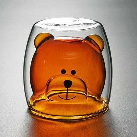 Visland 250ml Transparent Bear Glass Coffee Cup Whiskey ...