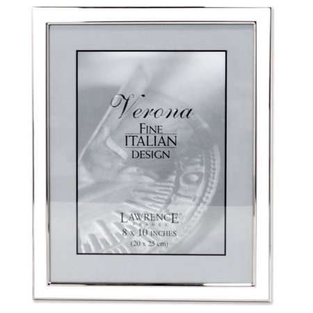 Silver Plated 8x10 Metal with White Enamel Picture Frame - Walmart.com