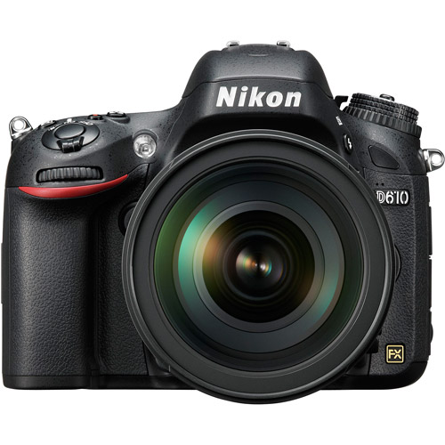 Nikon Black D610 DSLR Camera with 24.3 Megapixels and 28-300mm Lens Included