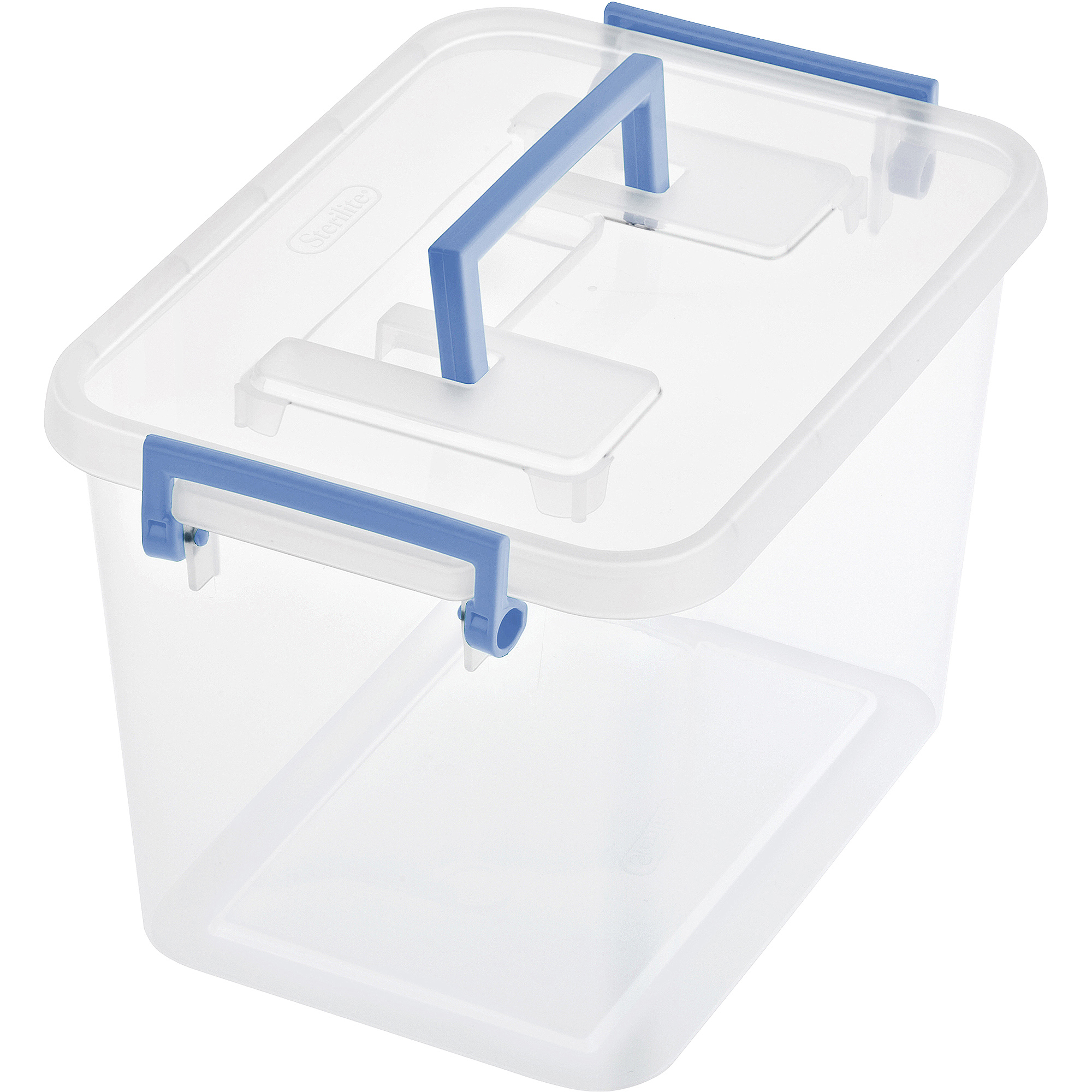 Sterilite 1 8 Gallon 7 2 Quart Modular Latch Storage Box