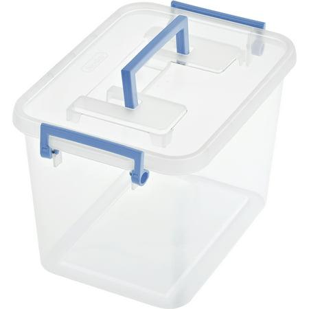 Sterilite 1 8 Gallon 7 2 Quart Modular Latch Storage Box