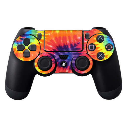 Protective Vinyl Skin Decal Cover for Sony PlayStation DualShock 4 Controller wrap sticker skins Tie Dye 2