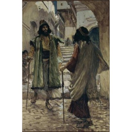Posterazzi SAL999219 Saul Meeteth with Samuel James Tissot 1836-1902 French Watercolor on Paper Jewish Museum New York Print - 18 x 24 in. - image 1 of 1