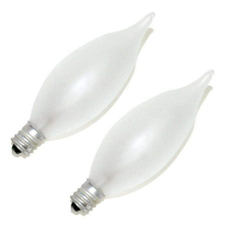 Frost Incandescent Pendant - 2Pk - Philips 40w 120v BA9 Frosted E12 Candelabra Incandescent bulb