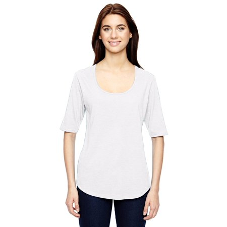- Anvil Women's Triblend Deep Scoop Half Sleeve T-Shirt