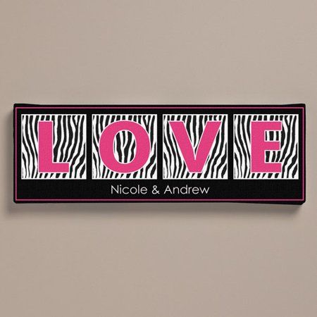 Personalized Zebra Print Canvas, 6