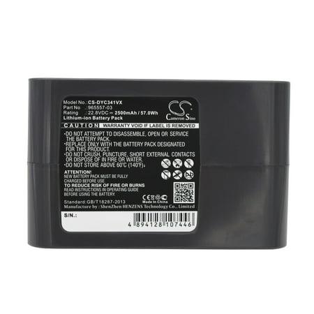 Cameron Sino 2500mAh Battery for Dyson DC31 Animal, DC34, DC34 Animal, DC35, DC35 Multi floor, DC56, DC45, DC45 SV, DC44