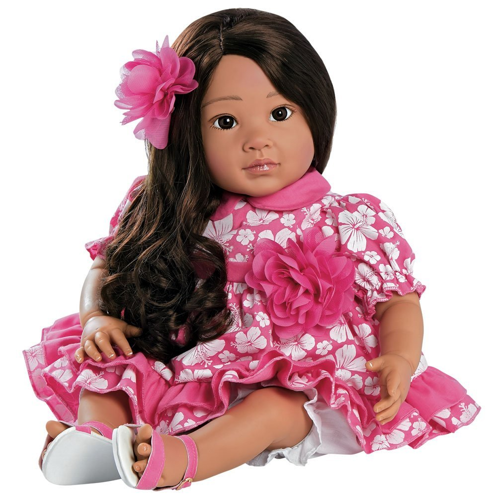 "Paradise Galleries Lifelike Realistic Soft Vinyl Weighted 20 inch Toddler Girl Doll Gift ""Lei Aloha"" Great to Reborn"