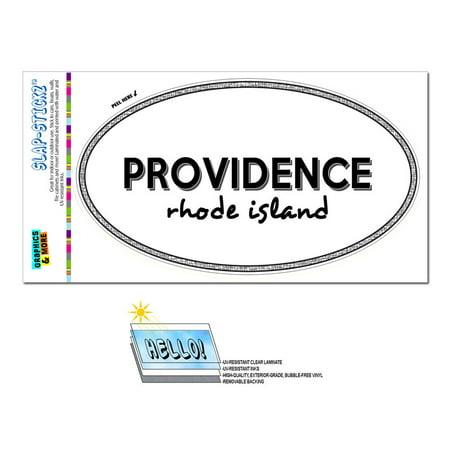 Providence, RI - Rhode Island - Black and White - City State - Oval Laminated Sticker](Party City Garden City Ri)