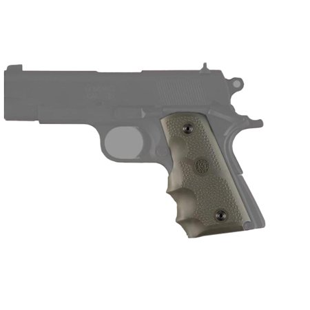 Hogue Colt Officers Rubber Grip with Finger Grooves Olive Drab Green