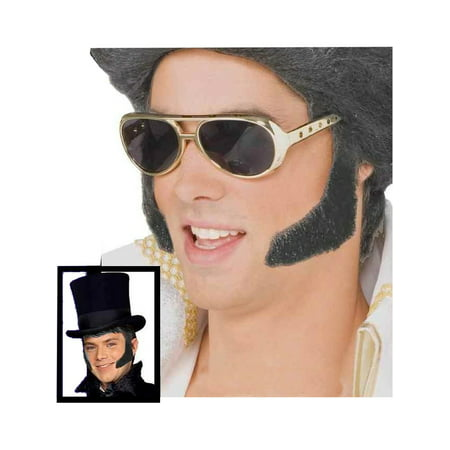 Grey Mutton Chops Side Burns Costume Accessory](Mutton Chop Mustache)