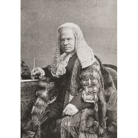 - Hardinge Stanley Giffard 1St Earl Of Halsbury 1823-1921 English Barrister Politician Government Minister And Three Times Lord Chancellor Of Great Britain From The Strand Magazine Published 1896 Rolled