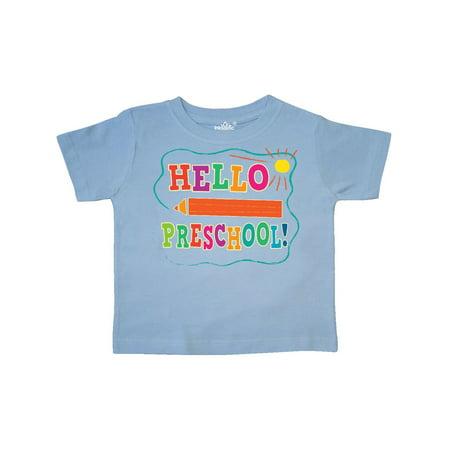 School Toddler Tee (Hello Preschool 1st Day of School Toddler T-Shirt )