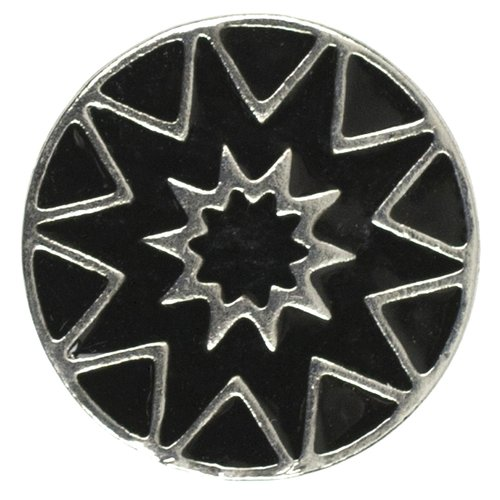 Cousin Snap in Style Metal Snap, Black Star