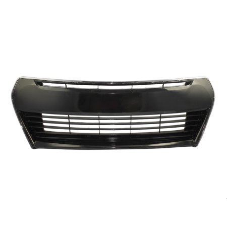 Front Bumper Grille Black w/ Chrome Trim Lower Center Replacement for Toyota Corolla 53102-02210 ()