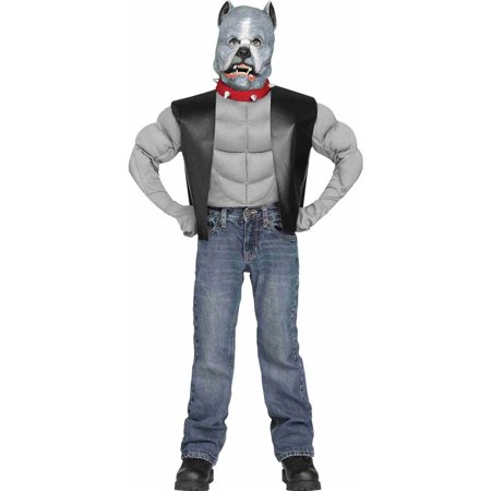 Bull Costume For Kids (Pit Bull Biker Dog Kids)
