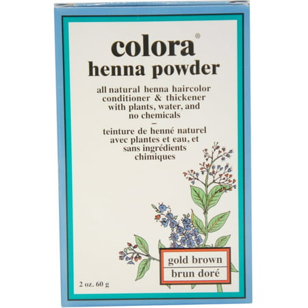 2 Pack - Colora Henna Powder Hair Color Gold Brown, 2