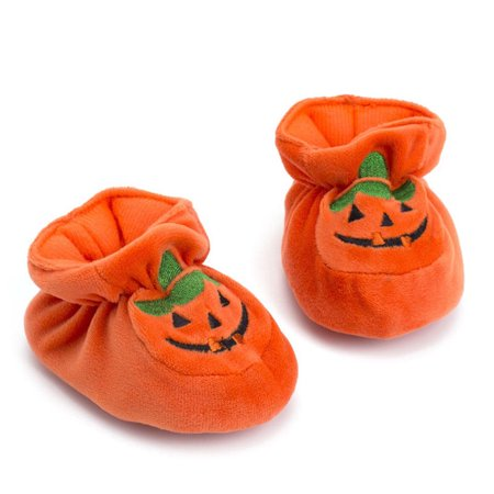 Halloween Opening Remarks (One opening Infant Newborn Baby Girls Boys Halloween Pumpkin Soft Sole Crib Prewalker)
